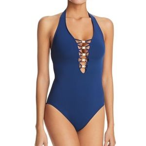 Navy bathing suit